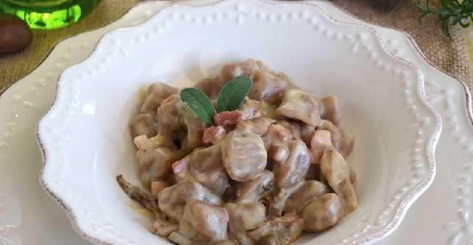 zuppa castagne funghi