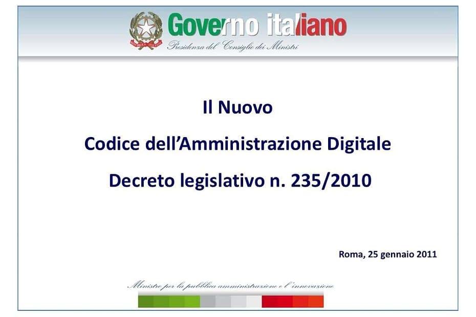 il nuovo codice dellamministrazione digitale