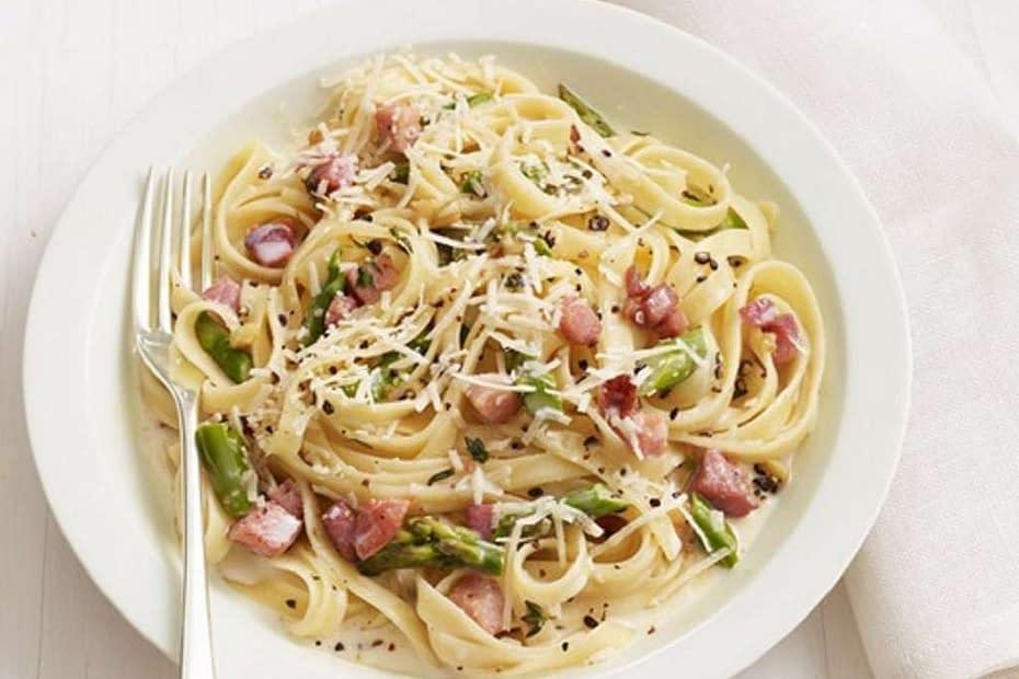 pasta asparagi pancetta